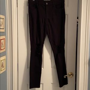 Distressed Express Black Jeans